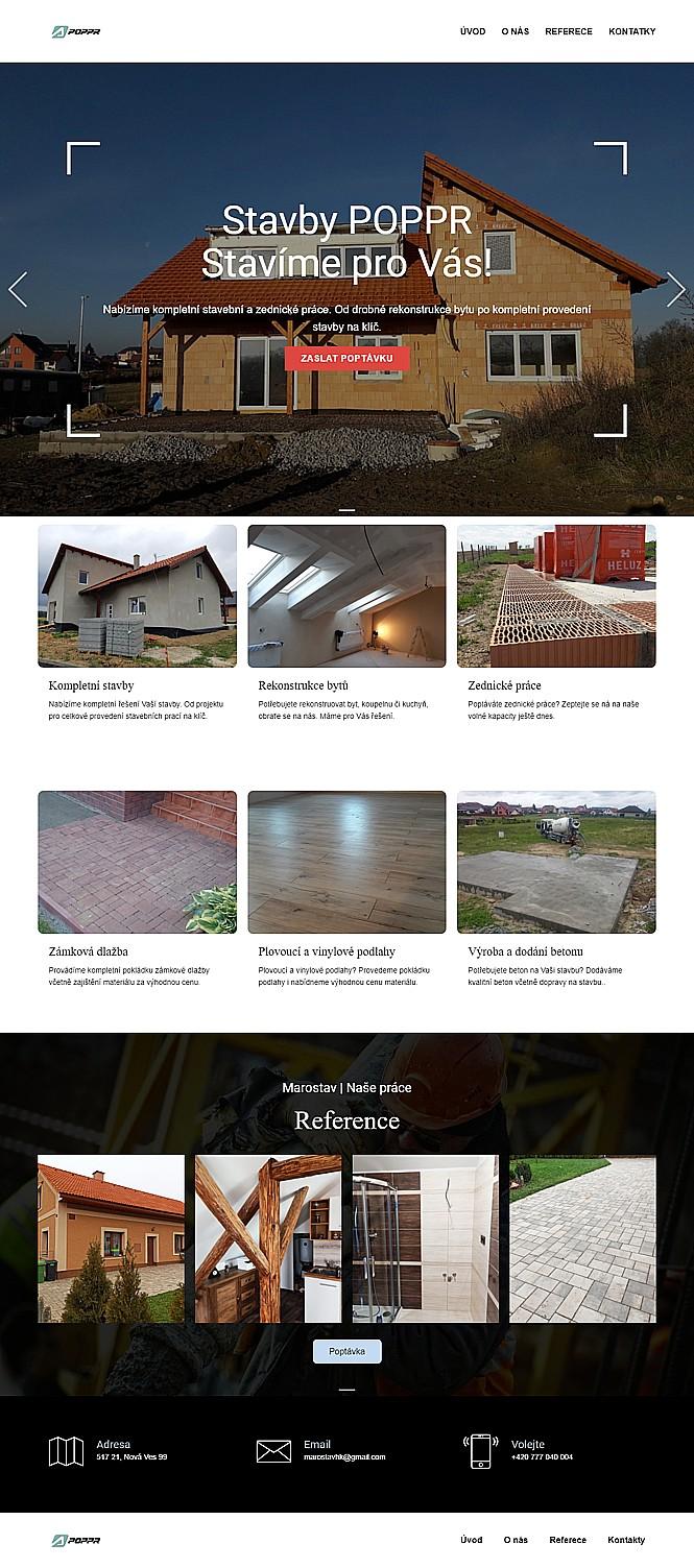 Web pro stavební společnost