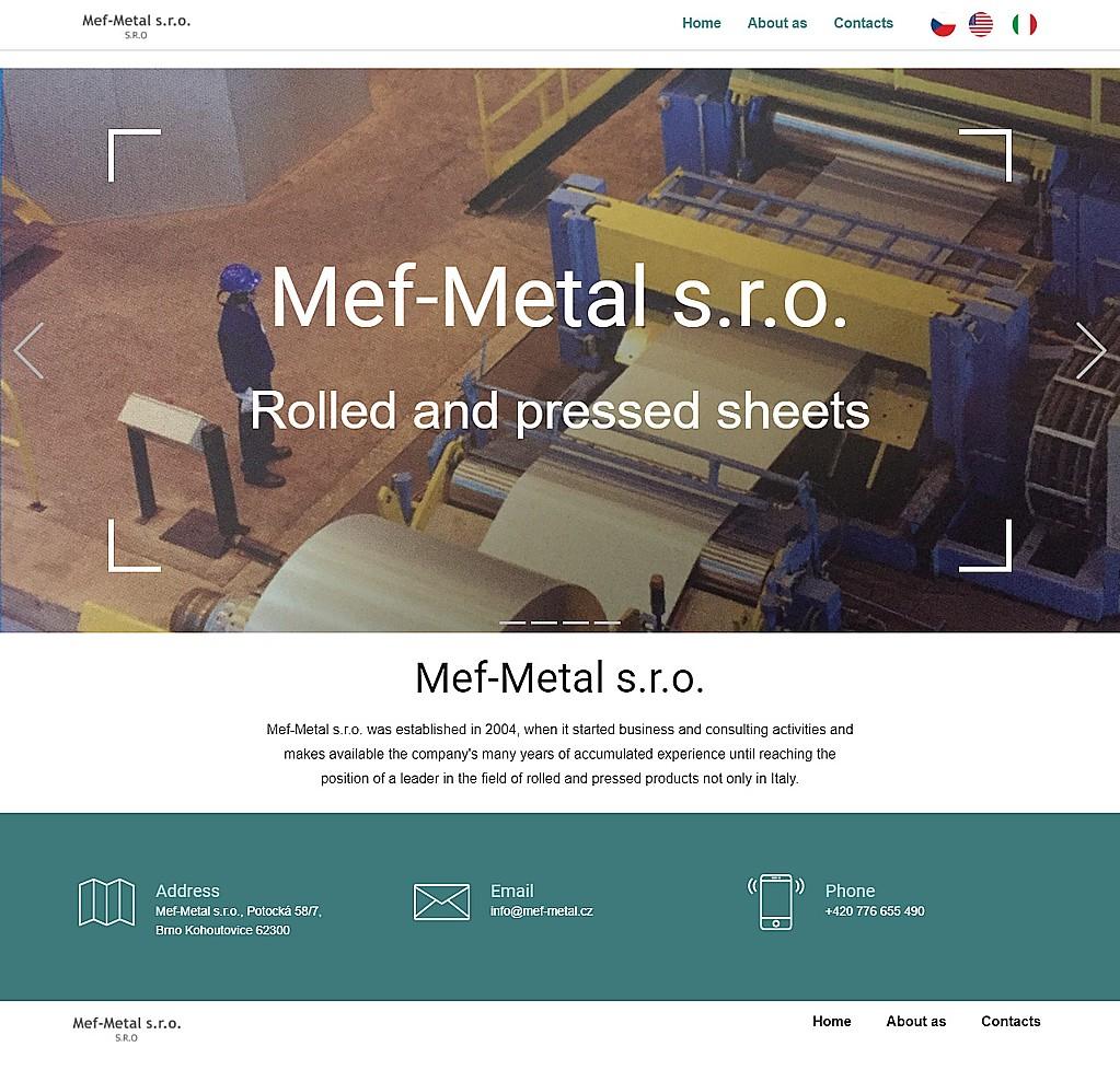 Web pro obchodníka s ocelí