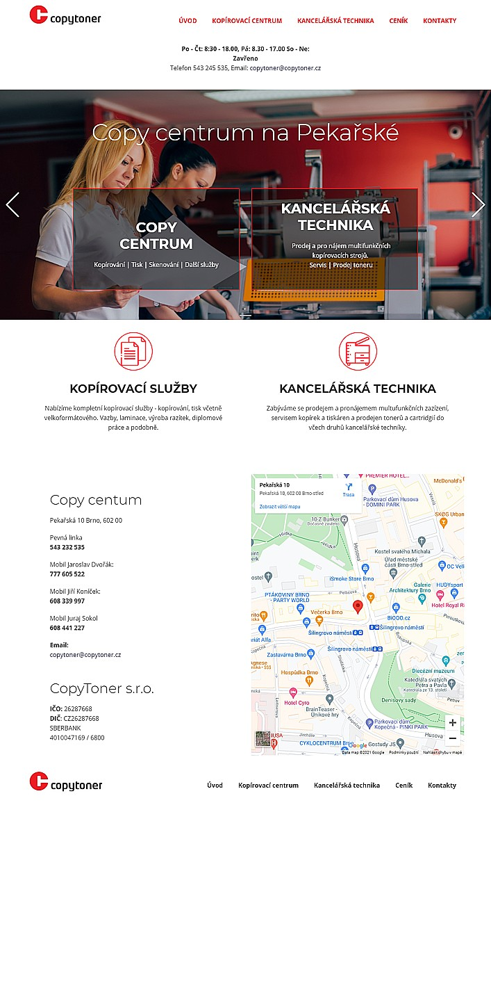 Mobilní web pro copy službu