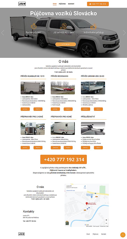Responzivní web pro půjčovnu vozíků